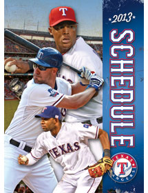Texas Ranger Pocket Schedule printing example